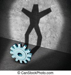 Industry Career Success - Industry career success metaphor...