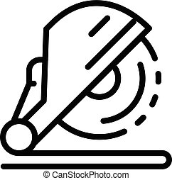 Industry circular saw icon, outline style - Industry ...