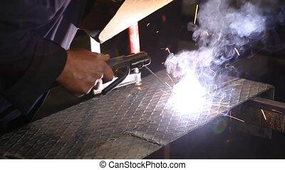 Closeup of welding