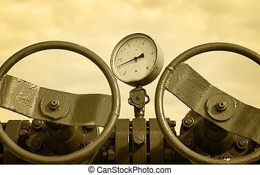 industry., conceito, gás, wellhead., óleo