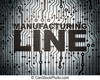 Industry concept: circuit board with Manufacturing Line