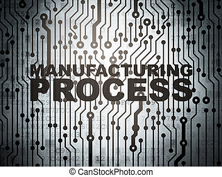 Industry concept: circuit board with Manufacturing Process