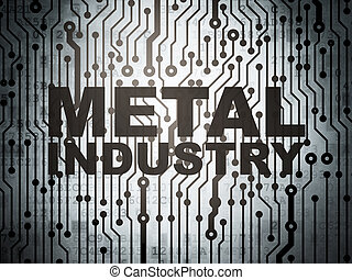 Industry concept: circuit board with Metal Industry