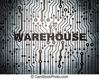 Industry concept: circuit board with Warehouse