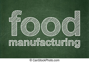 Industry concept: Food Manufacturing on chalkboard background