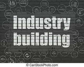 Industry concept: Industry Building on wall background