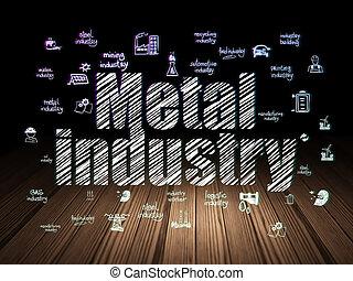 Industry concept: Metal Industry in grunge dark room