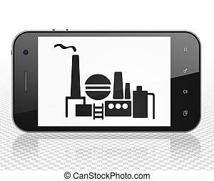 Industry concept: Smartphone with Oil And Gas Indusry on display