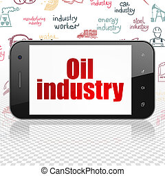 Industry concept: Smartphone with Oil Industry on display