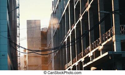 Industry construction and development. Concrete walls....
