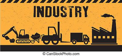 industry design over  background vector illustration