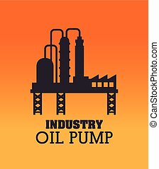 Industry design over orange background vector illustration