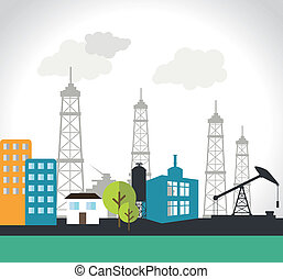 Industry design over white background, vector illustration