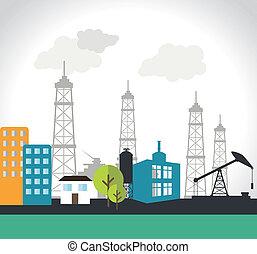 Industry design over white background,vector illustration