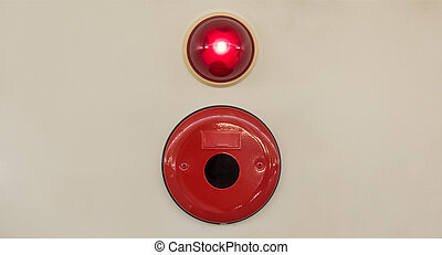 Industry Fire alarm system on a gray wall