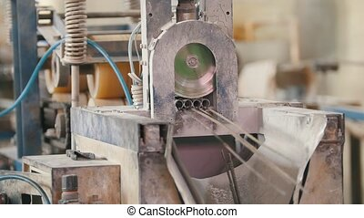 Industry for constructing - producing of fiberglass rods -...