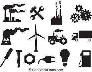 industry icons collection (power plug, screwdriver,...