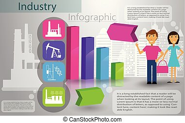 industry infographics production process