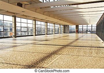 Industry interior - Big empty interior space for industrial...
