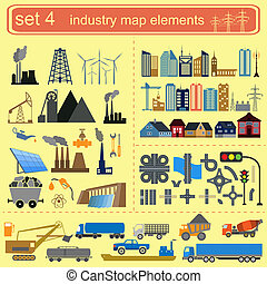 Industry map elements