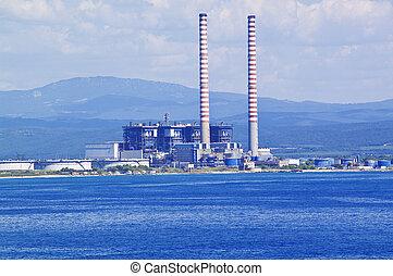 Industry on the sea coast