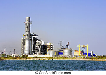 Industry on the wearing of Fos-sur-Mer beside Marseille.