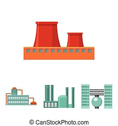 Industry, production.Factory set collection icons in cartoon style vector symbol stock illustration web.