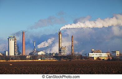 industry., producto petroquímico, -, refinería, aceite,...