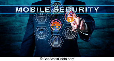 Industry professional Pressing MOBILE SECURITY