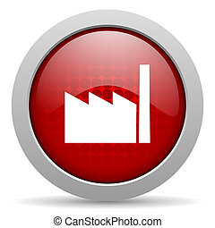 industry red circle web glossy icon