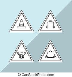 Industry security supplies design, vector illustration