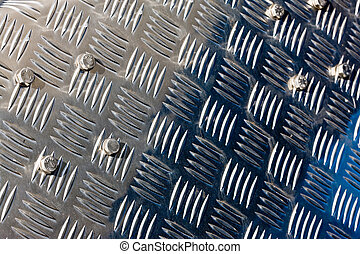 industry series: bright corrugated steel plate texture