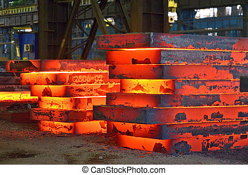 Hot slab stack - Industry steel, Hot slab stack