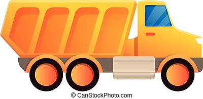Industry tipper icon, cartoon style - Industry tipper icon. ...