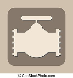 industry valve vector icon