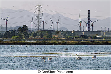 Industry vs nature - Industry vs environment - heavy...