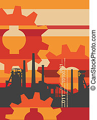 Industry_factory_background - Industry background with a...