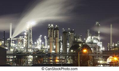 indutry, huile, essence, -, usine, raffinerie chimique
