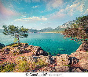 indyk, motyw morski, śródziemnomorski, malowniczy