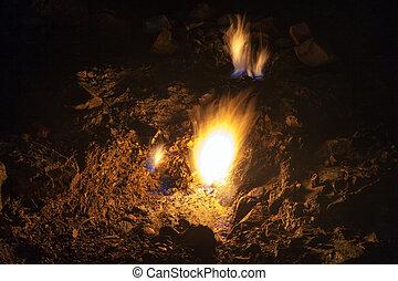indyk, starożytny, płomienie, obsada, wieczny, lycia,...