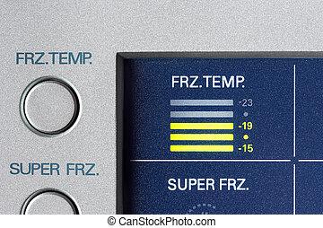 indykator, temperatura, chłodnia