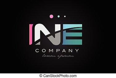 INE i n e three letter logo icon design - INE i n e three 3...