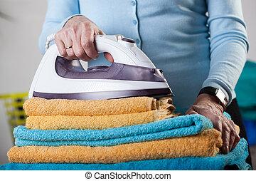 ineengevouwen , handdoeken