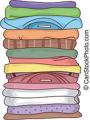 ineengevouwen , kleren