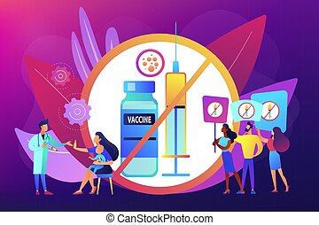 inenting, weigering, vector, illustration., concept