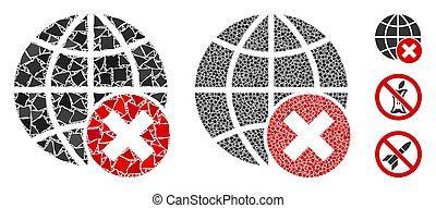 inequal, globalization, 要素, 止まれ, 構成, アイコン