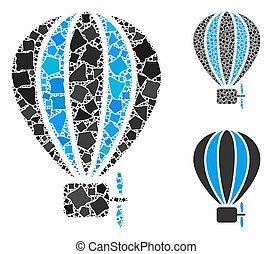 inequal, pictogram, balloon, aerostat, mozaïek, communie