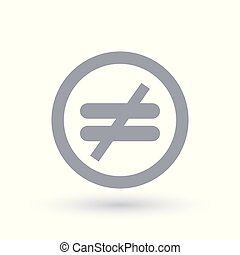 Inequality icon. Injustice symbol. Unfairness sign in circle. Vector illustration.