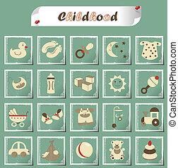 infancia, ícones