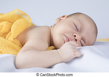 Infant baby girl sleeping